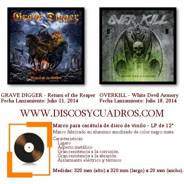 Enmarcar discos de vinilo / Decorar discos de vinilo / Grave Digger ...