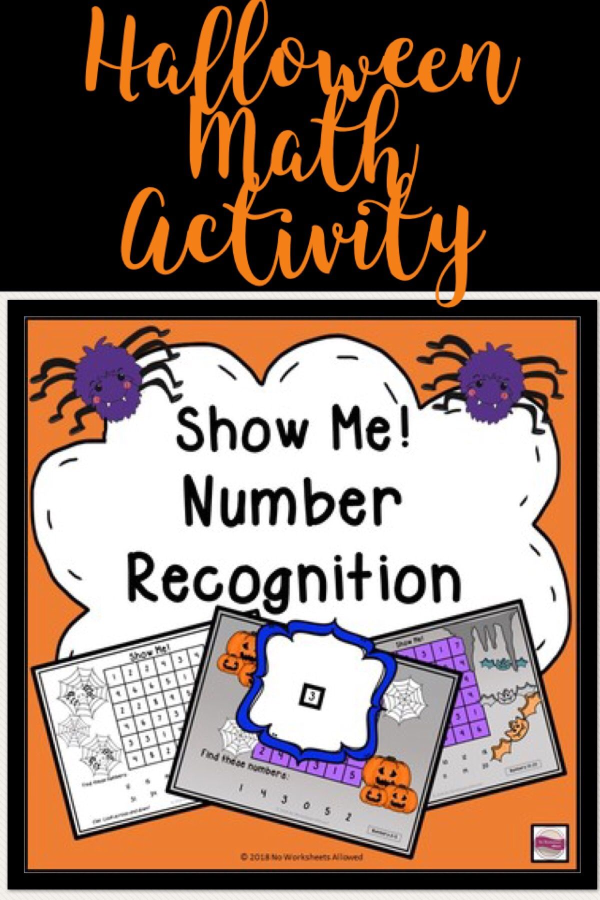 Halloween Number Recognition To 100 Activity