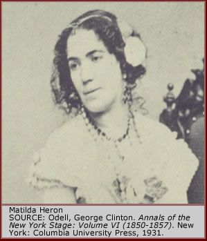 Matilda Heron, wife (and more famously ex-wife) of Robert Stoepel.
