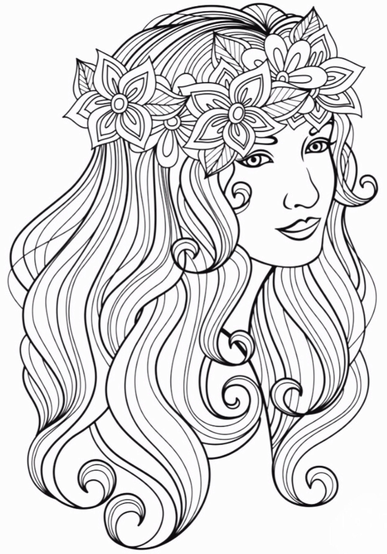 10 Coloring Page Woman Mandala Coloring Pages People Coloring Pages Coloring Pages