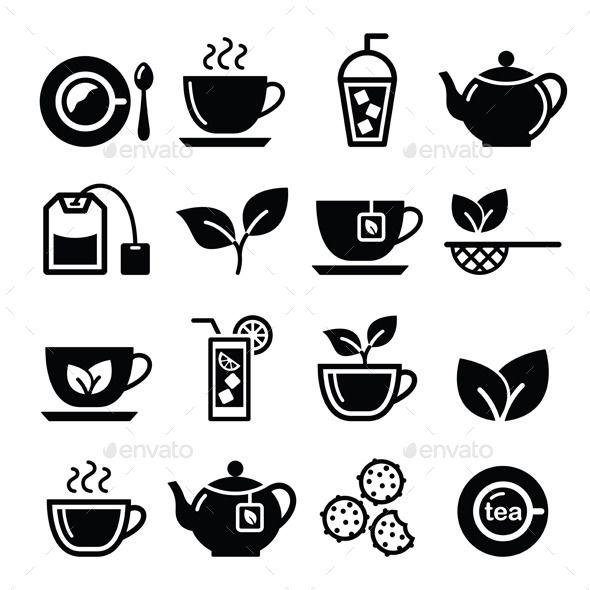 Tea And Ice Tea Icons Set Tea Logo Coffee Shop Logo Coffee Icon