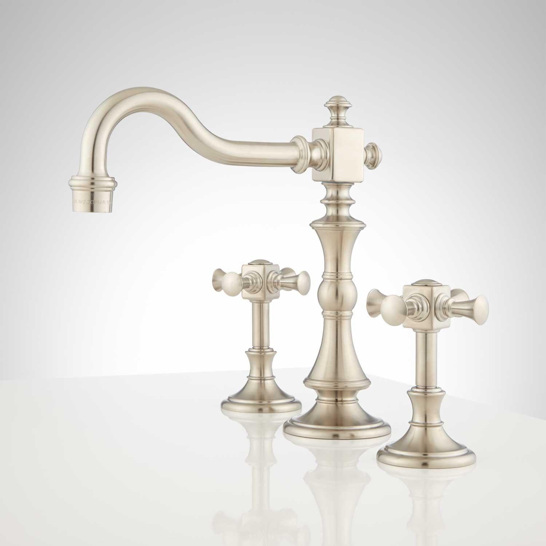 Vintage Widespread Bathroom Faucet Cross Handles Home Renovation