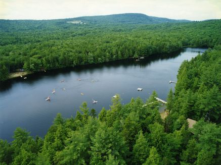 Enjoy Our Private Lake At Hidden Valley Camp Freedom Maine A Summer Arts And Outdoors Community For Children Ages 8 Summer Landscape Hidden Valley Camping