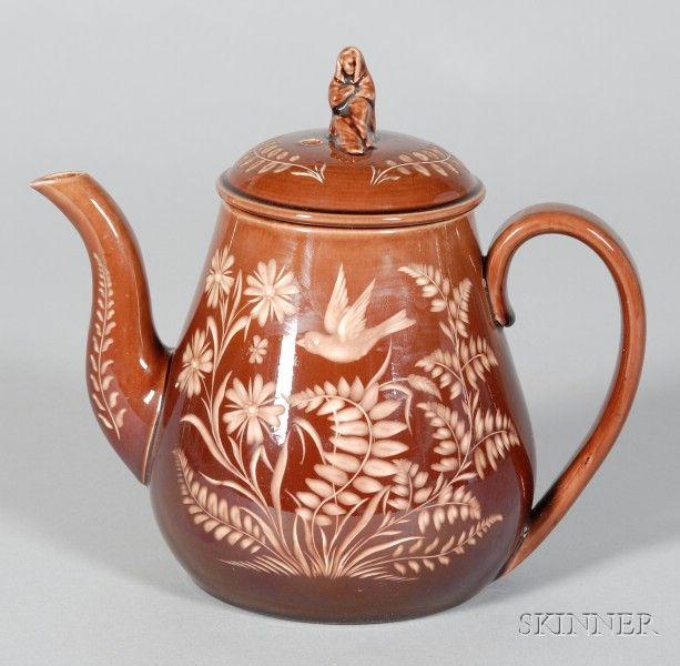 Wedgwood Rockingham Glazed Vigornian Teapot and Cover