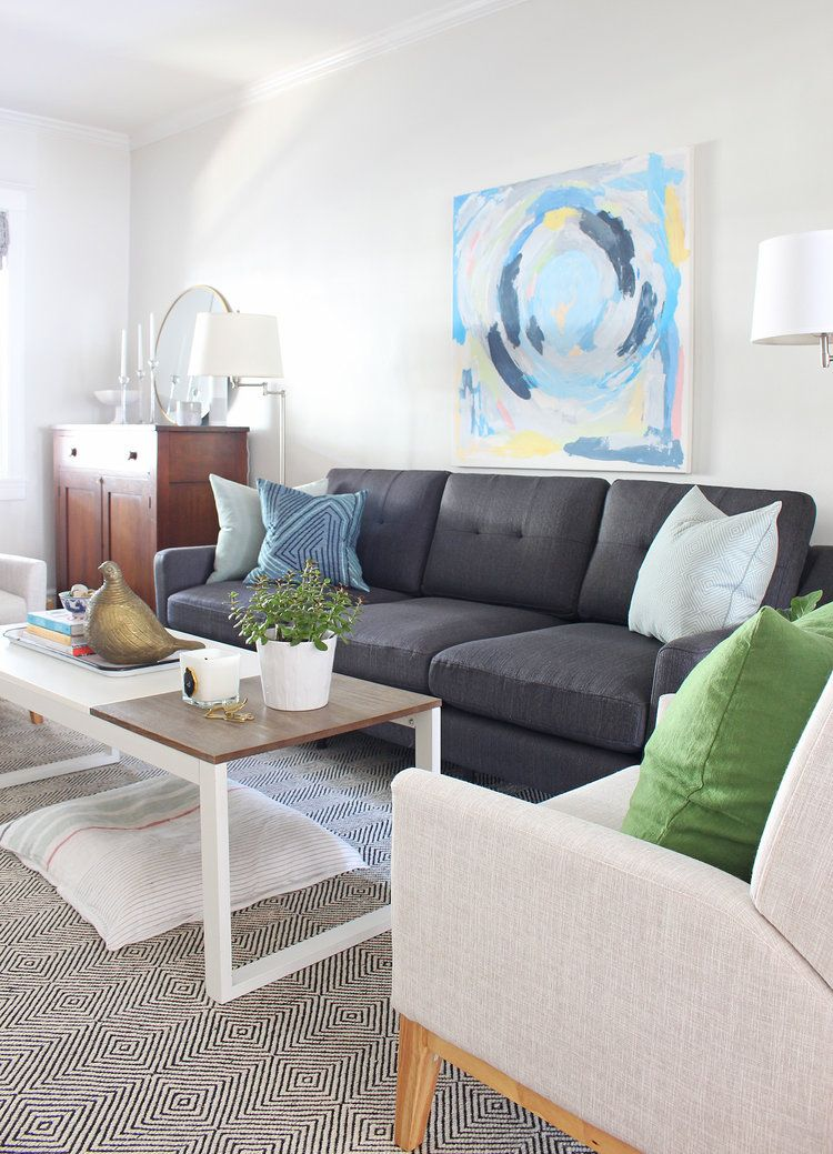Sensational Our New Living Room Sofa From Burrow Small Space Design Inzonedesignstudio Interior Chair Design Inzonedesignstudiocom