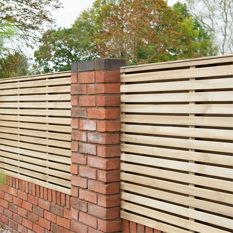 Double Slatted Fence Panel 3ft Pack Of 3 At Homebase Co Uk Contemporary Fence Panels Slatted Fence Panels Decorative Fence Panels