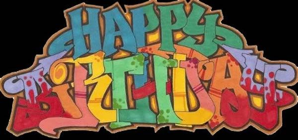 Happy Birthday Schrift Graffiti ~ Happy birthday graffiti collection hip hop pinterest and