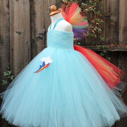My Little Pony Costume | Rainbow dash Costume, My Little Pony Tutu ...