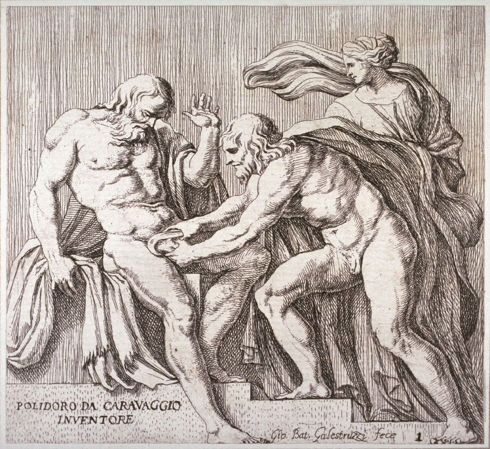 The Castration of Uranus, pl. 1 from the series Subjects from ...