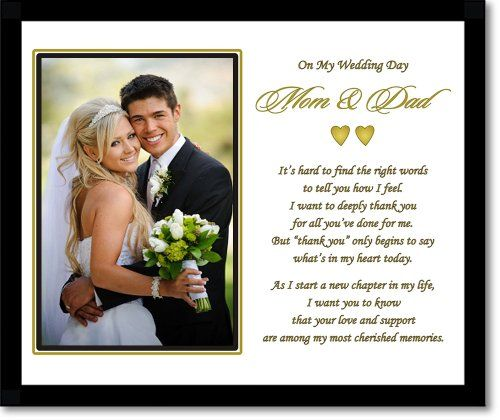 Pa Thank You Wedding Gift Poem From Son Or Daughter In 8x10 Inch