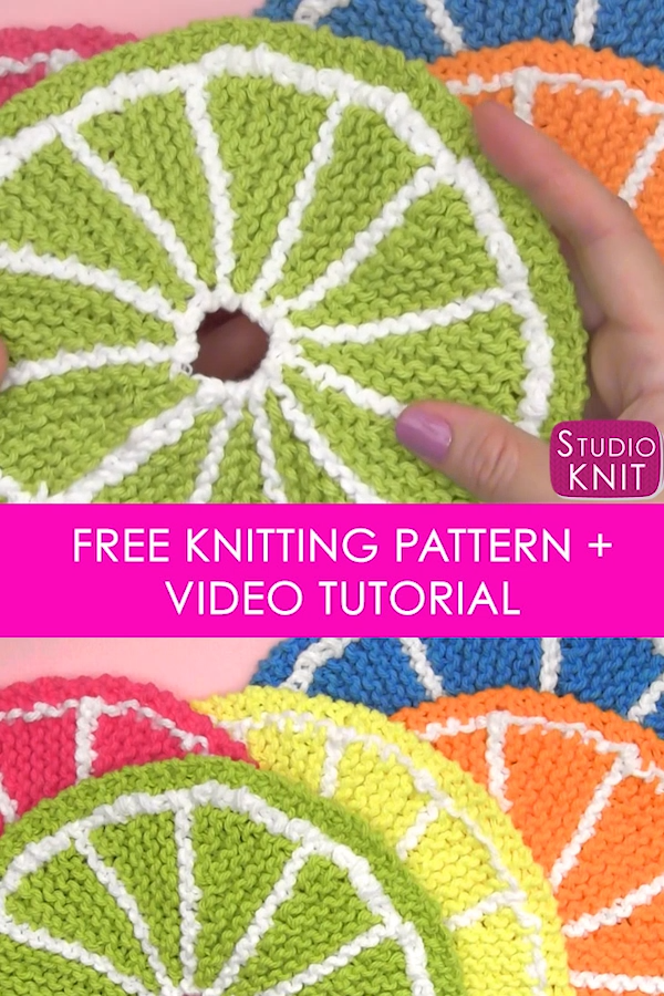 How to Knit Fruit Citrus Slices with Free Pattern + Video