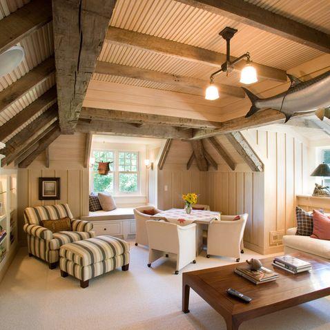 Finished Attic Design Ideas Pictures Remodel And Decor Bonus Room Design Attic Rooms Traditional Family Rooms