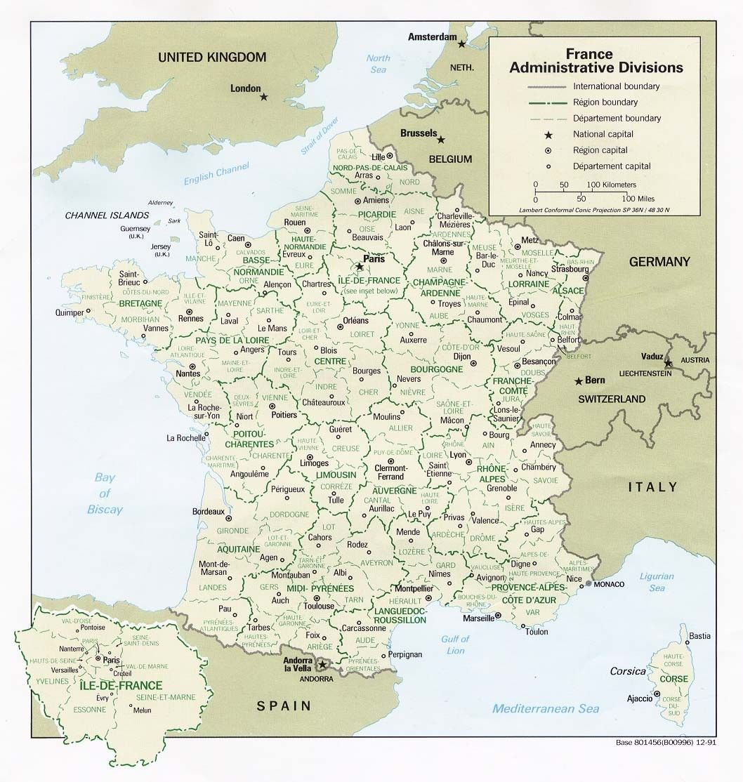 France Carte Regions De Carte De France Carte Des Regions Les