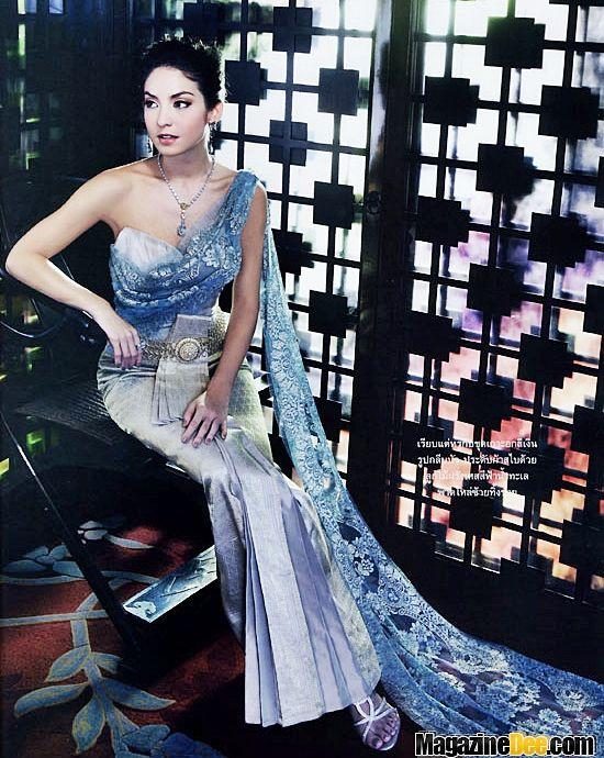 43cd8047c Beautiful Traditional Thai Dress (Blue) | Traditional Thai Fashion ...
