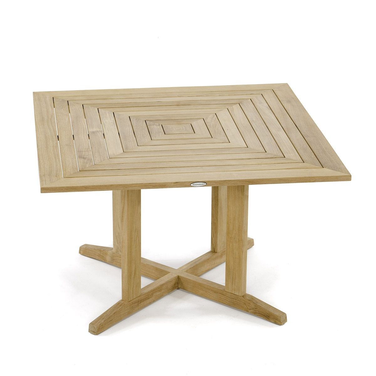 Pyramid 48in Square Teak Outdoor Dining Table Westminster