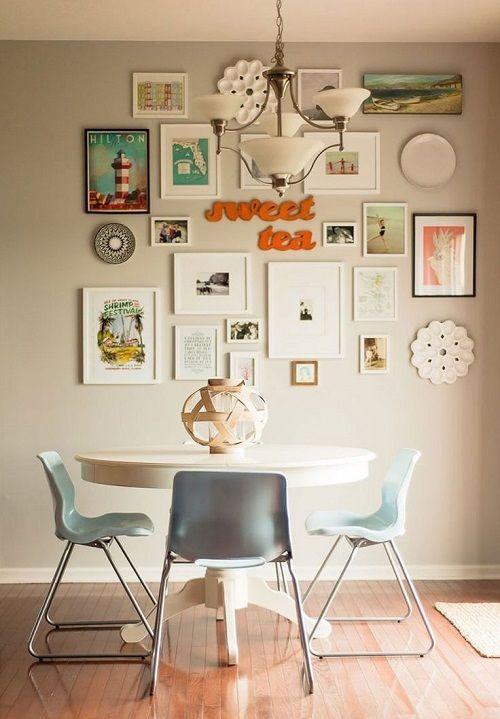 Inspirações para combinar quadros na mesma parede e montar uma ...