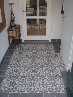 Portugese vloertegels gang met zwarte rand google zoeken woonideeen pinterest kitchen - Keuken met cement tegels ...