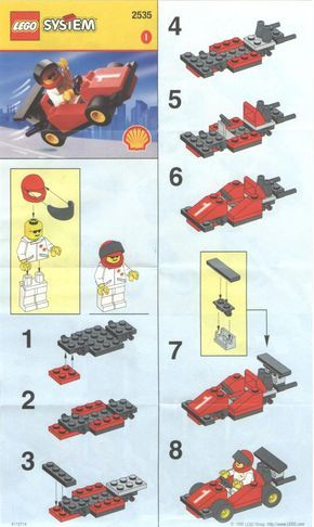 Lego Instructions Instructions For 2535 1 Shell Promotional Set