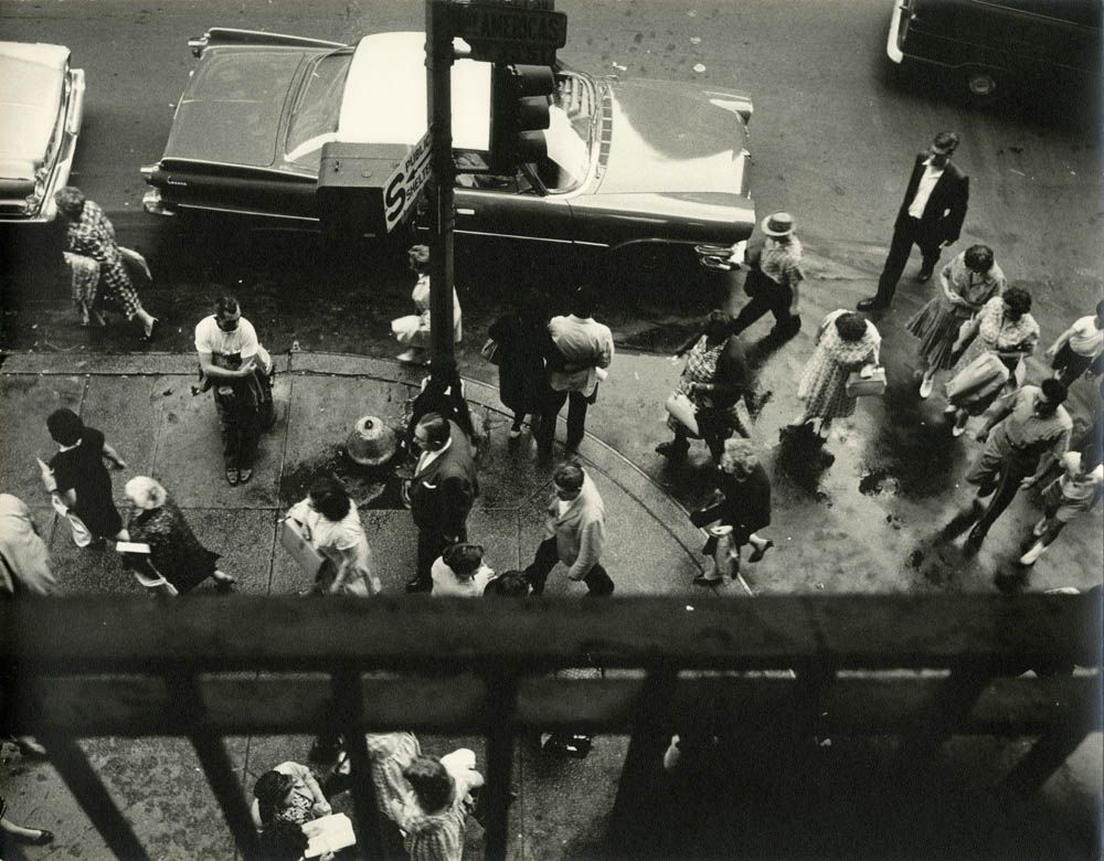 Over 33rd Street and Broadway, Greeley Square, New York City, August 21, 1961; photograph by Frederick Kelly, PR 246, NYHS Image #87709d.