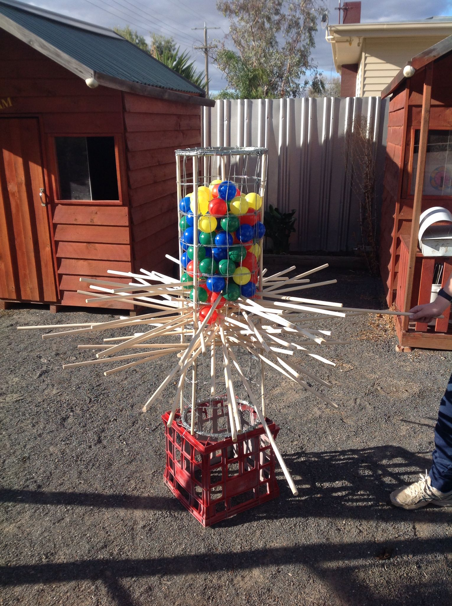 Outdoor kerplunk... It's a hit with the kids... Adults too :)