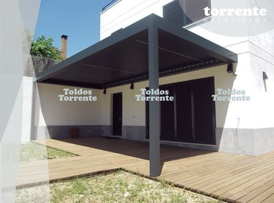 Pérgolas de aluminio bioclimáticas de lamas orientables y retráctiles. - Pérgolas bioclimáticas TE®