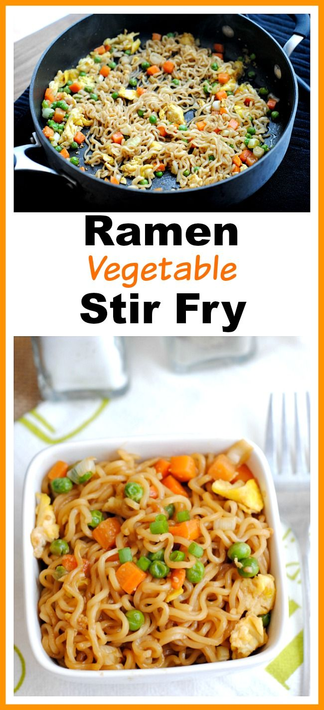 Quick + Easy Ramen Vegetable Stir Fry- Ramen can be used to make a healthy filling dish, if you know how to use it. Here's how to make a delicious ramen vegetable stir fry! It's so quick and easy to put it together, that it makes a great lunch or dinner for busy days!   veggies, healthy, noodles, #recipe #ramen #food #stirFry