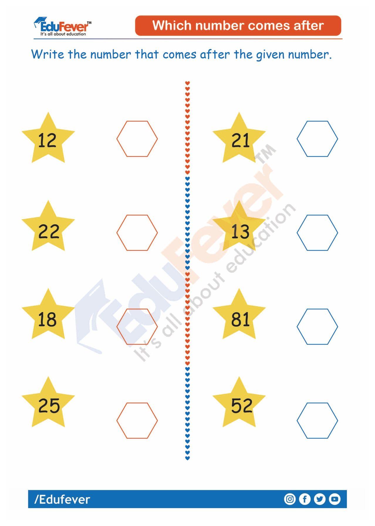 Which Number Comes After Ukg Worksheet Addition And Subtraction Subtraction Math Worksheet Maths for lkg worksheets