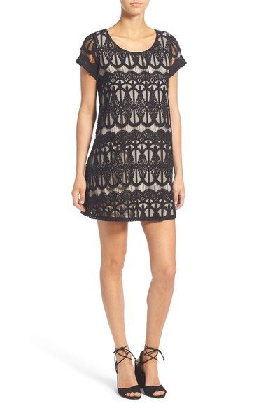 Socialite Cap Sleeve Lace Shift Dress available at #Nordstrom