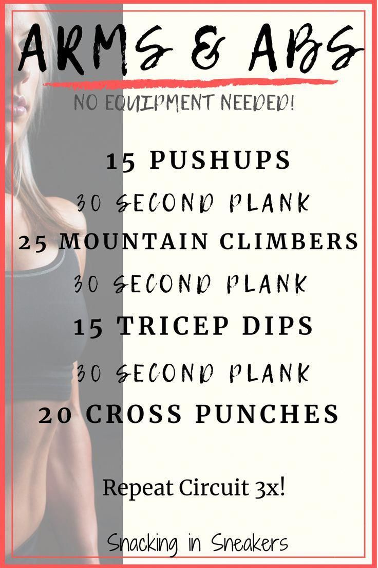 No Equipment Abs and Arms Workout!