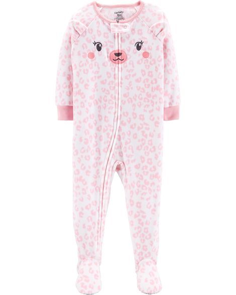 7c4b6c97b5 1-Piece Bear Fleece PJs