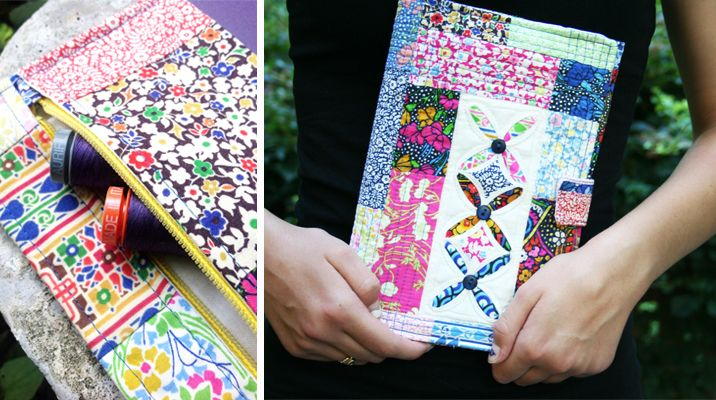 how to make a sewing journal cover