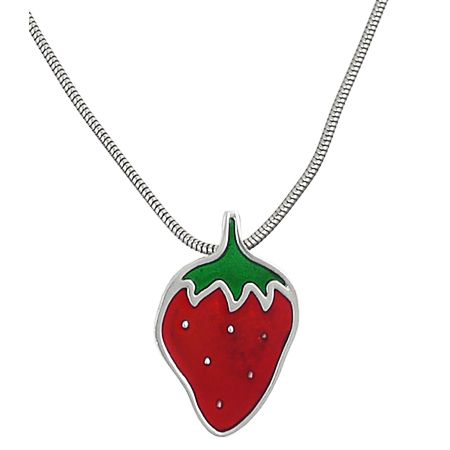 Pendant shaped as a strawberry