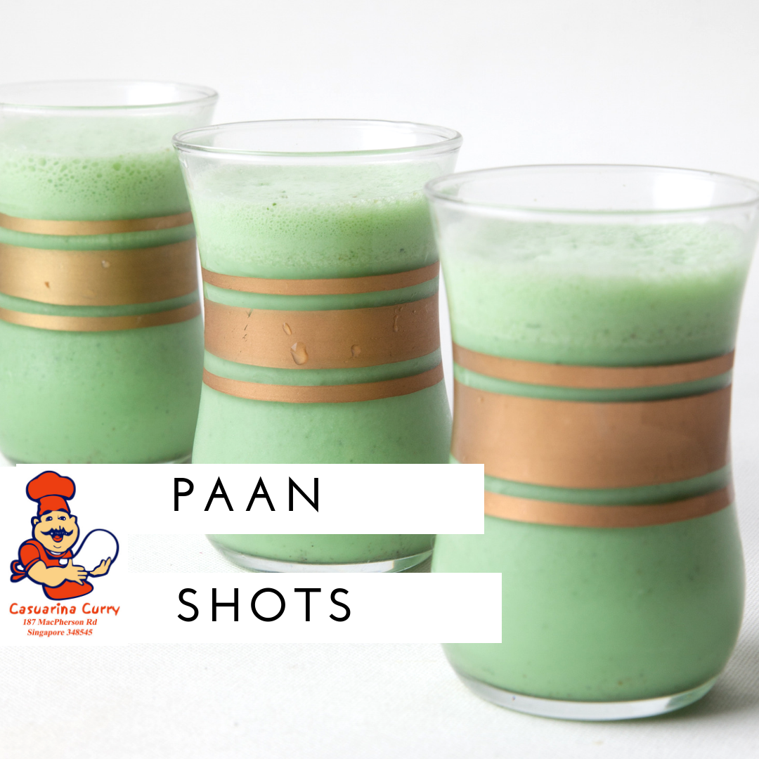 Singapore's one and only Paan Shots Live station! Refreshing