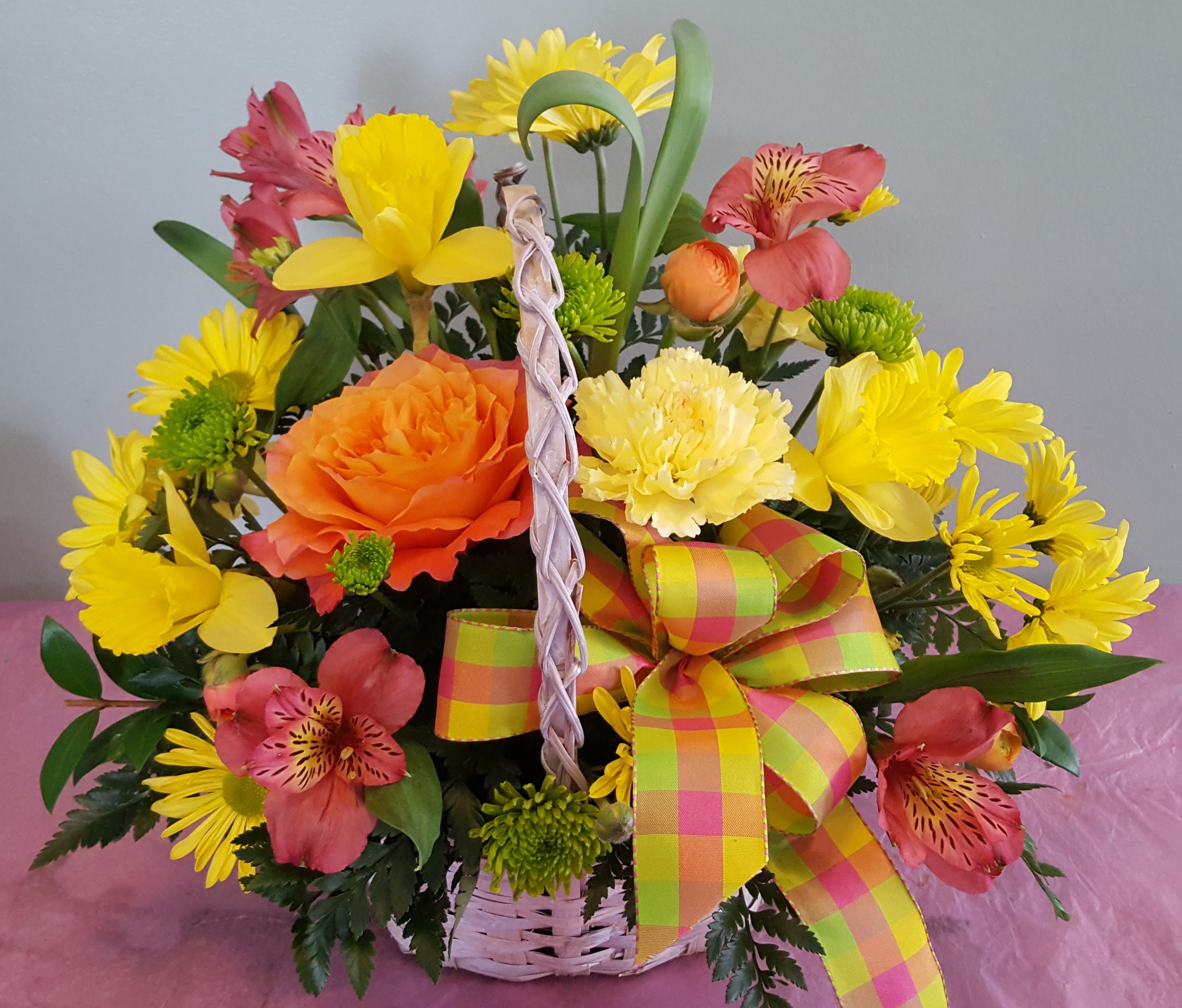 Easter Basket Full Of Happy Spring Flowers Treat Someone To Some