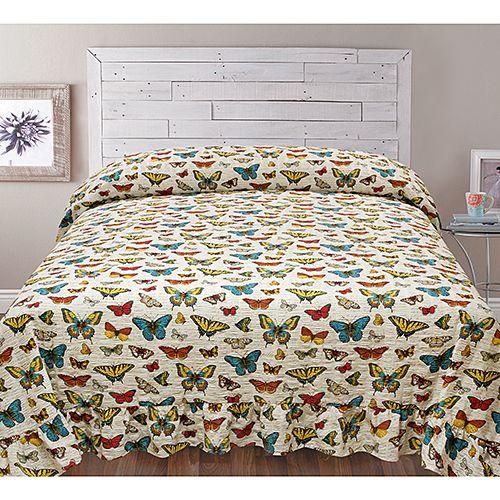 Ashley Cooper Butterfly Seersucker Bedspread