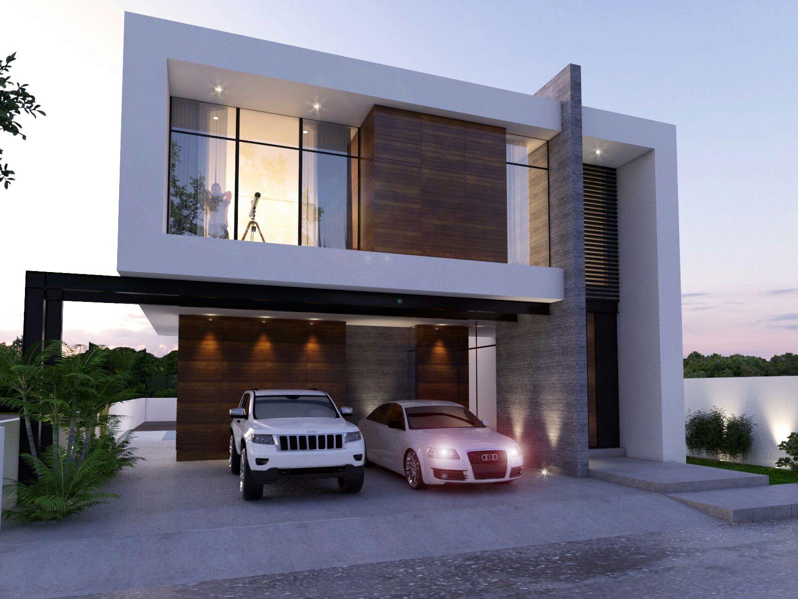 Pin de leonardo en casa pinterest casas modernas for Casa minimalista 80 metros