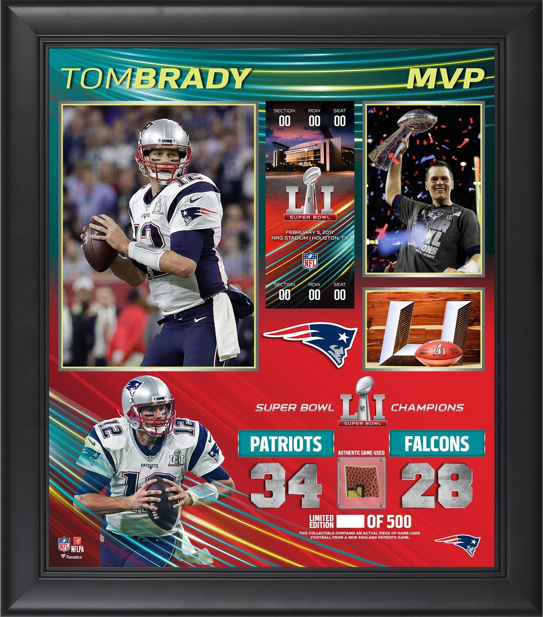 3e73a766b38 Tom Brady New England Patriots Framed 15 x 17 Super Bowl LI MVP Collage  with a