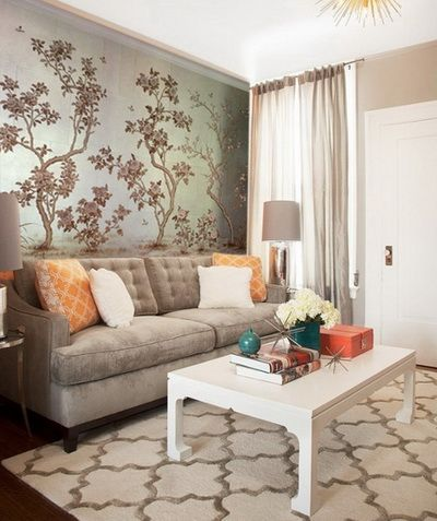 Upsize A Small Space Wallpaper Your Walls Bold In Living Room Draws Attention Away From The Size Of And Injects Instant