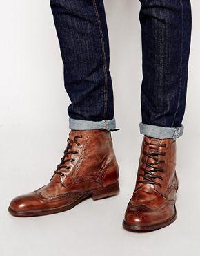 6bd8f4be7174 H By Hudson – Angus – Stiefel im Budapester Stil