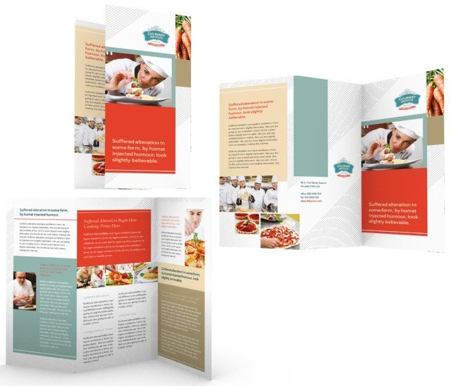 Culinary Institute Tri Fold Brochure Template HttpWwwDlayouts