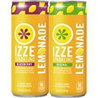 IZZE Sparkling Lemonade, Blackberry & Original Variety Pack, 8.4oz Cans (24 Pack)