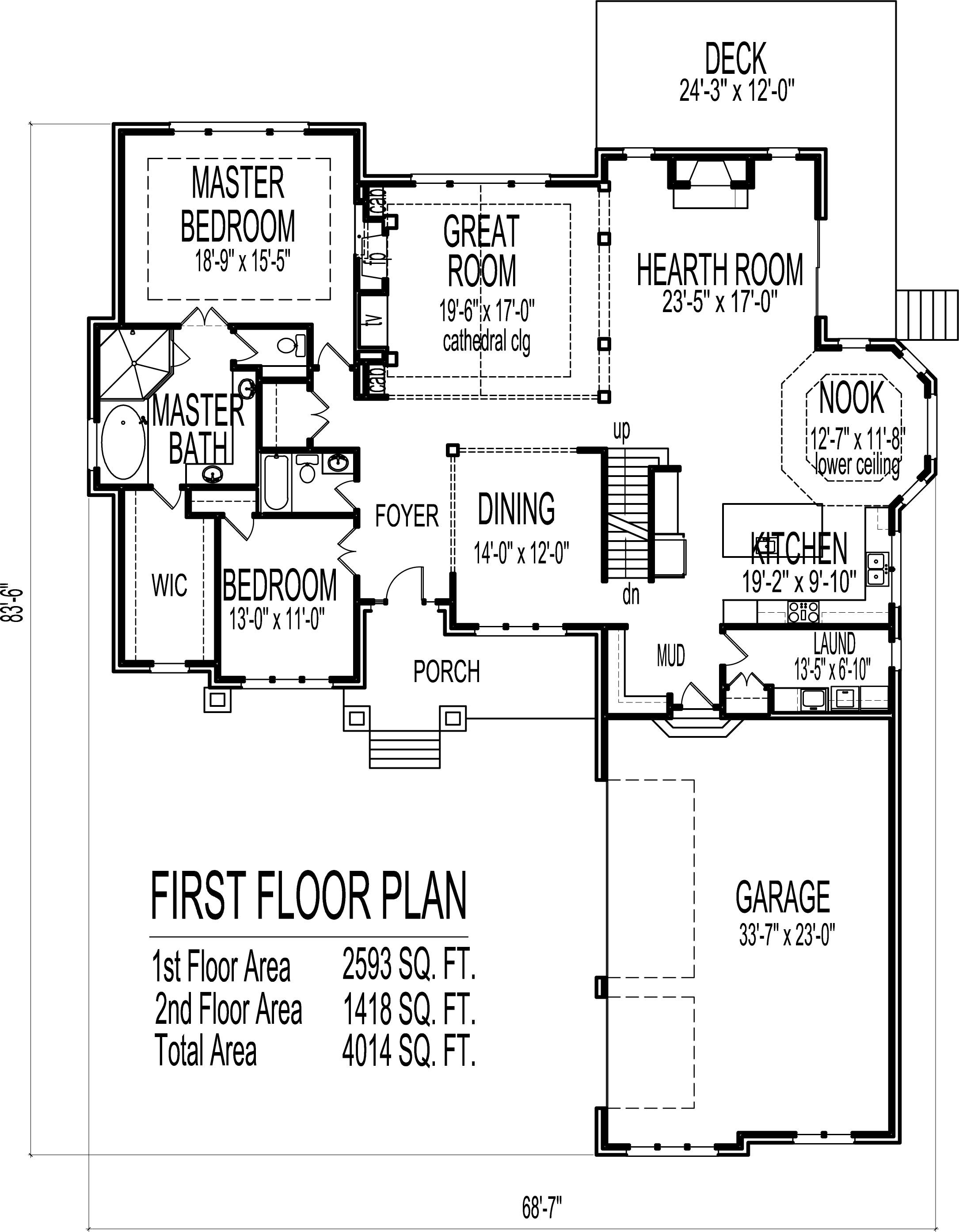 2 Story House Floor Plans 6 Bedroom Craftsman Home Bungalow House Floor Plans Two Story House Plans Bedroom House Plans