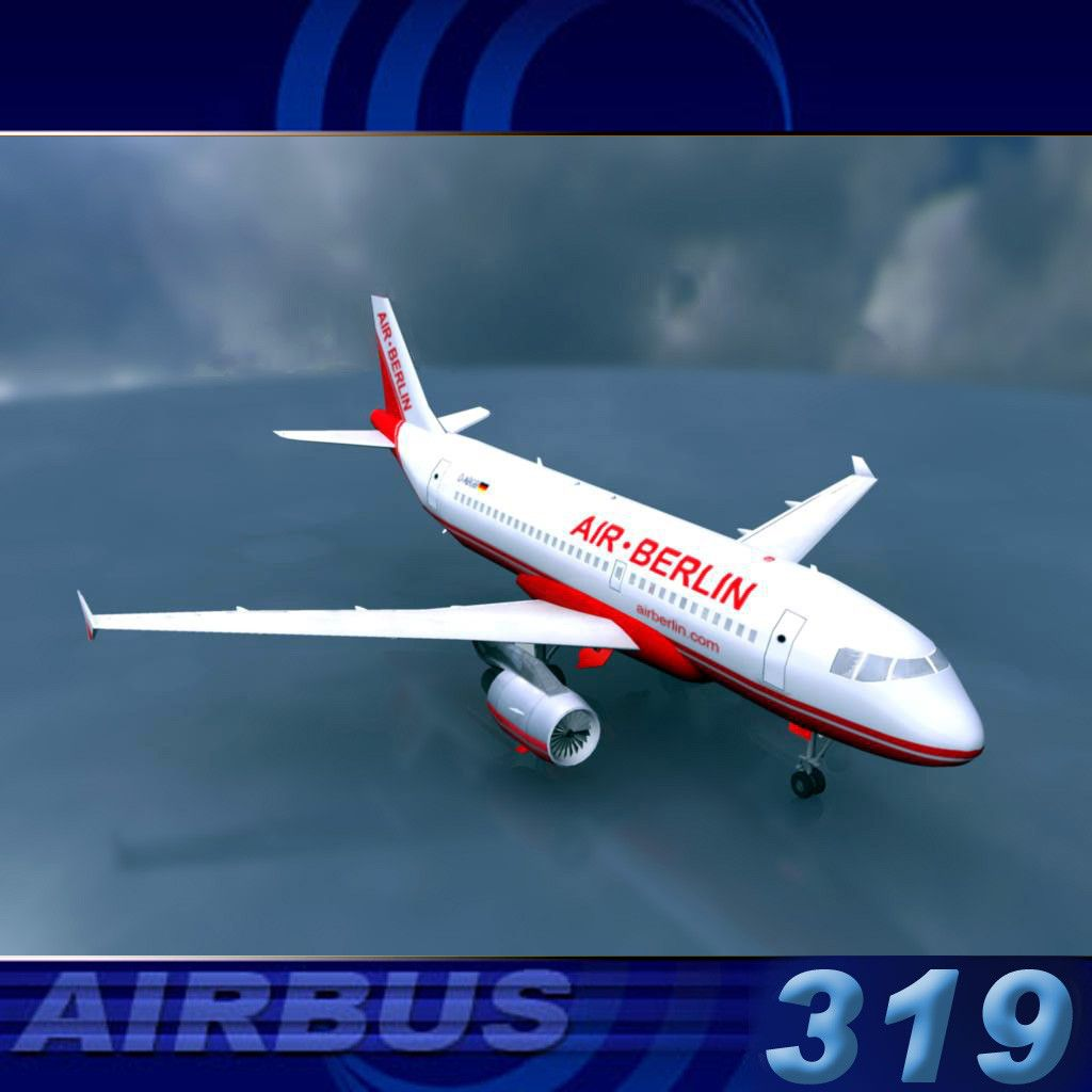 3D A319 Air Berlin Model - 3D Model