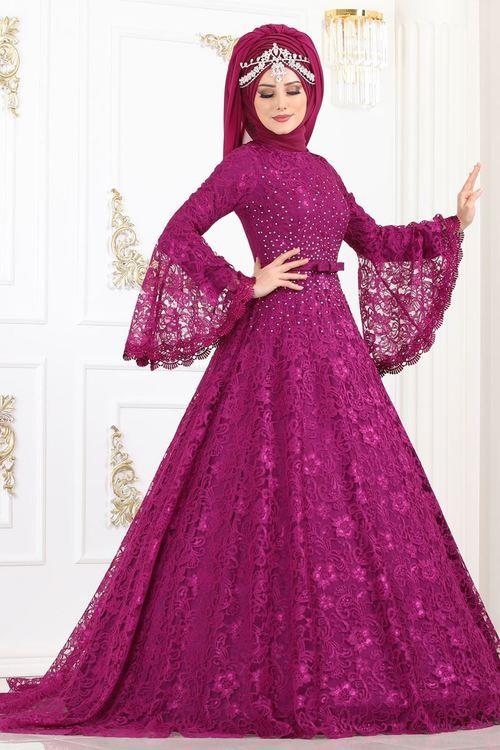 Modaselvim Abiye Volan Kol Tasli Dantel Abiye 5143ay342 Sarabi Elbise Elbise Modelleri Elbiseler