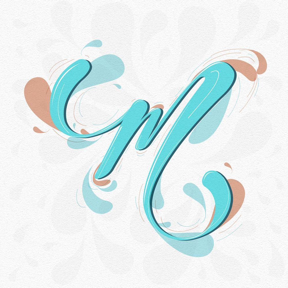 Letter M Tipo agua, Tipografía