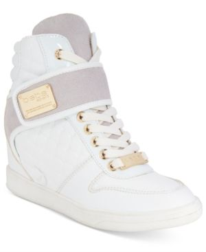 5895c5791fa bebe Sport Colby Wedge Sneakers - White 9.5M