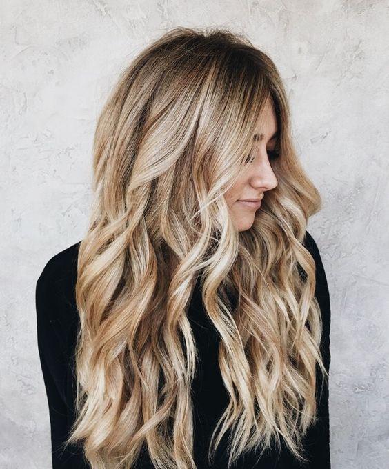 35++ Coiffure blonde long cheveux inspiration