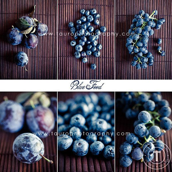 Blue Food Collage.