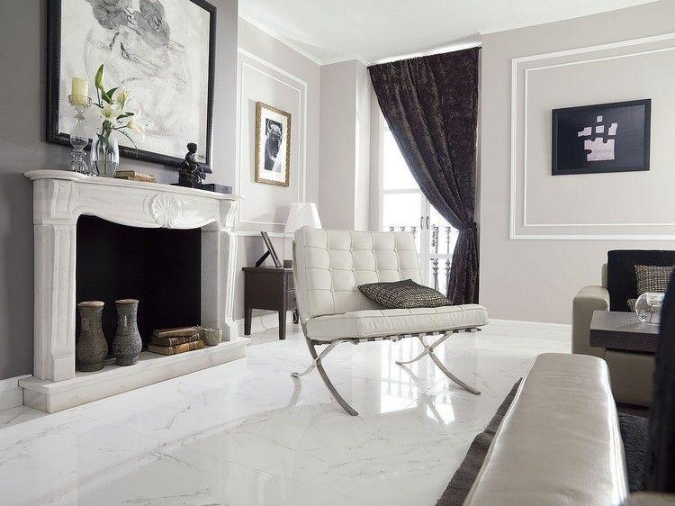 Wohnzimmer Fliesen - 20 moderne Einrichtungsideen für den ...