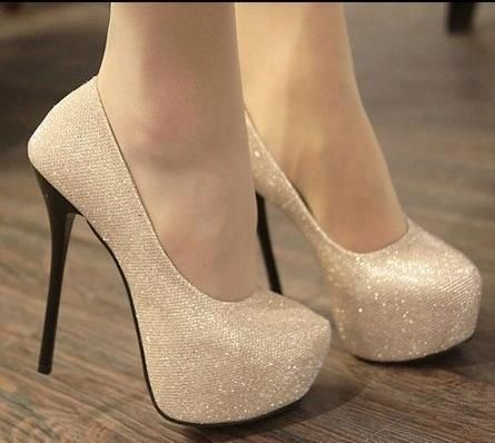 Beautiful sparkly nude heels | Shoes | Pinterest | High heel, Prom ...